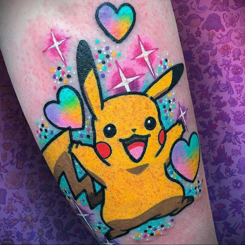 Фото татуировки с покемоном ко всемирному дню покемона – tatufoto.com 17