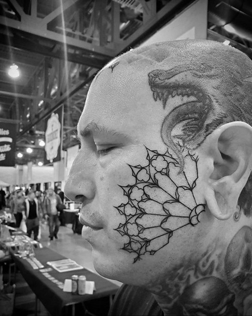 Фото тату рисунка сделанного в рамках Филадельфийской тату конвенции 2020 года - фото 1