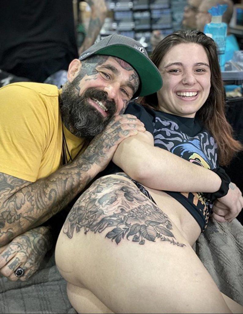 Фото тату рисунка сделанного в рамках Филадельфийской тату конвенции 2020 года - фото 18