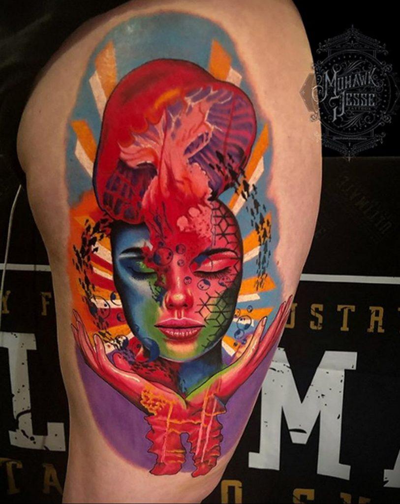 Фото тату рисунка сделанного в рамках Филадельфийской тату конвенции 2020 года - фото 41