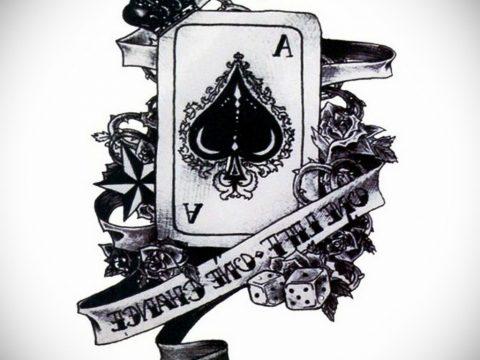 Эскиз тату пиковый туз 16.02.2020 №2104 -ace of spades tattoo sketch- tatufoto.com