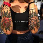 пример тату роза для девушки 04.02.2020 №003 -rose tattoo for girl- tatufoto.com