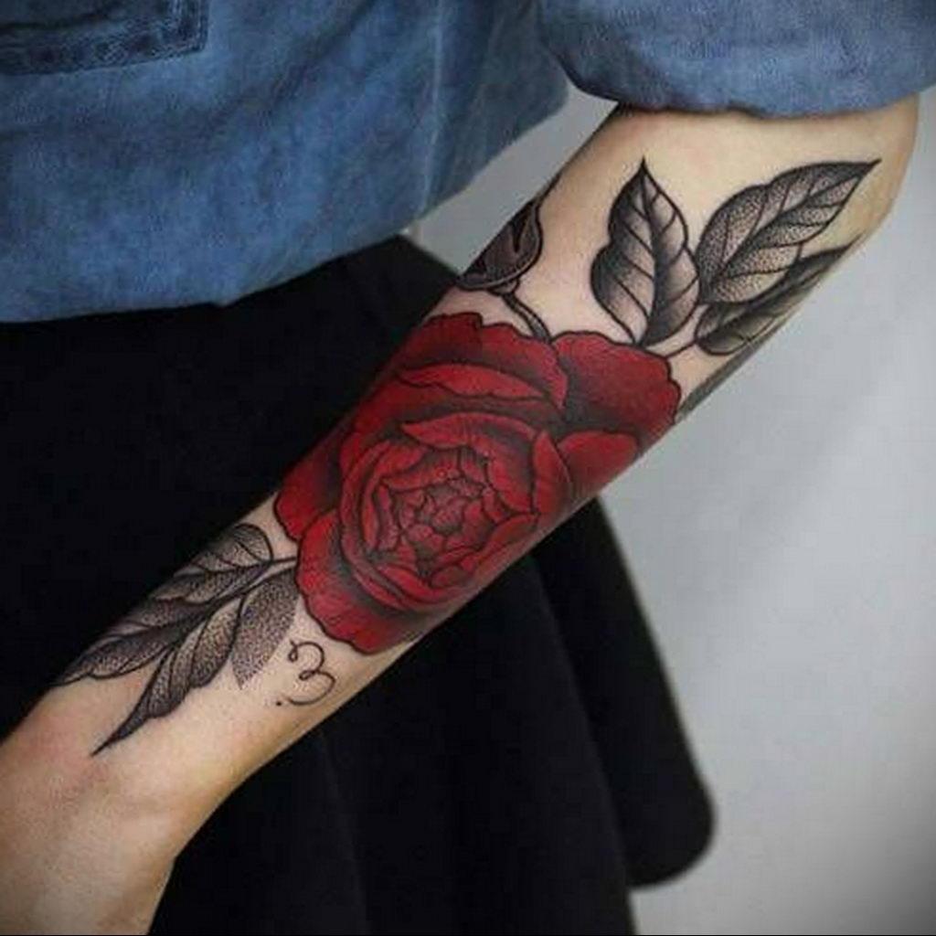 пример тату роза для девушки 04.02.2020 №035 -rose tattoo for girl- tatufoto.com