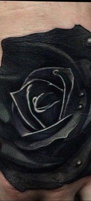 тату черная роза для девушки 04.02.2020 №003 -rose tattoo for girl- tatufoto.com