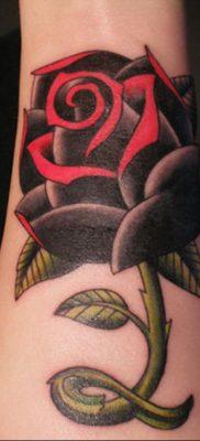 тату черная роза для девушки 04.02.2020 №051 -rose tattoo for girl- tatufoto.com