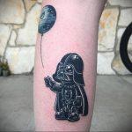 фото вариант тату Дарт Вейдер 04.02.2020 №1006 -darth vader tattoo- tatufoto.com