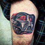 фото вариант тату Дарт Вейдер 04.02.2020 №1008 -darth vader tattoo- tatufoto.com