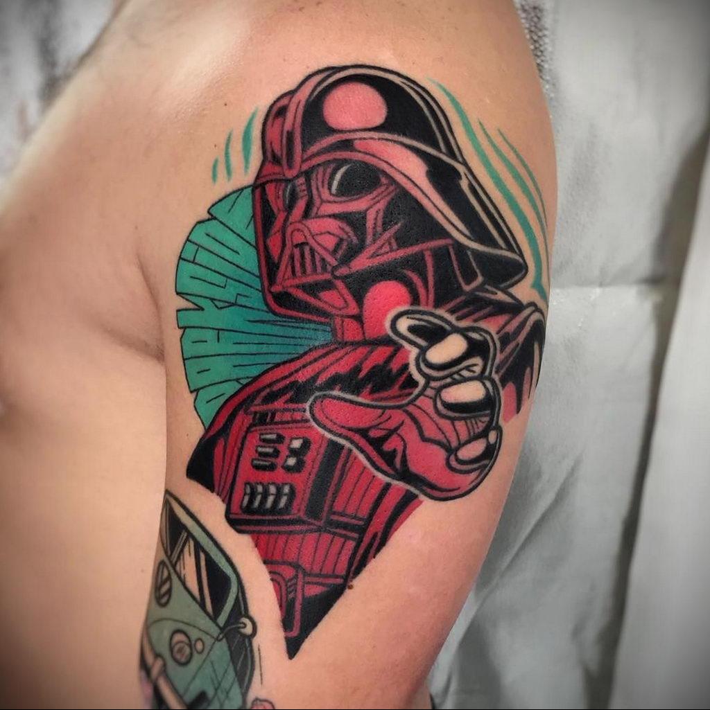 фото вариант тату Дарт Вейдер 04.02.2020 №1022 -darth vader tattoo- tatufoto.com