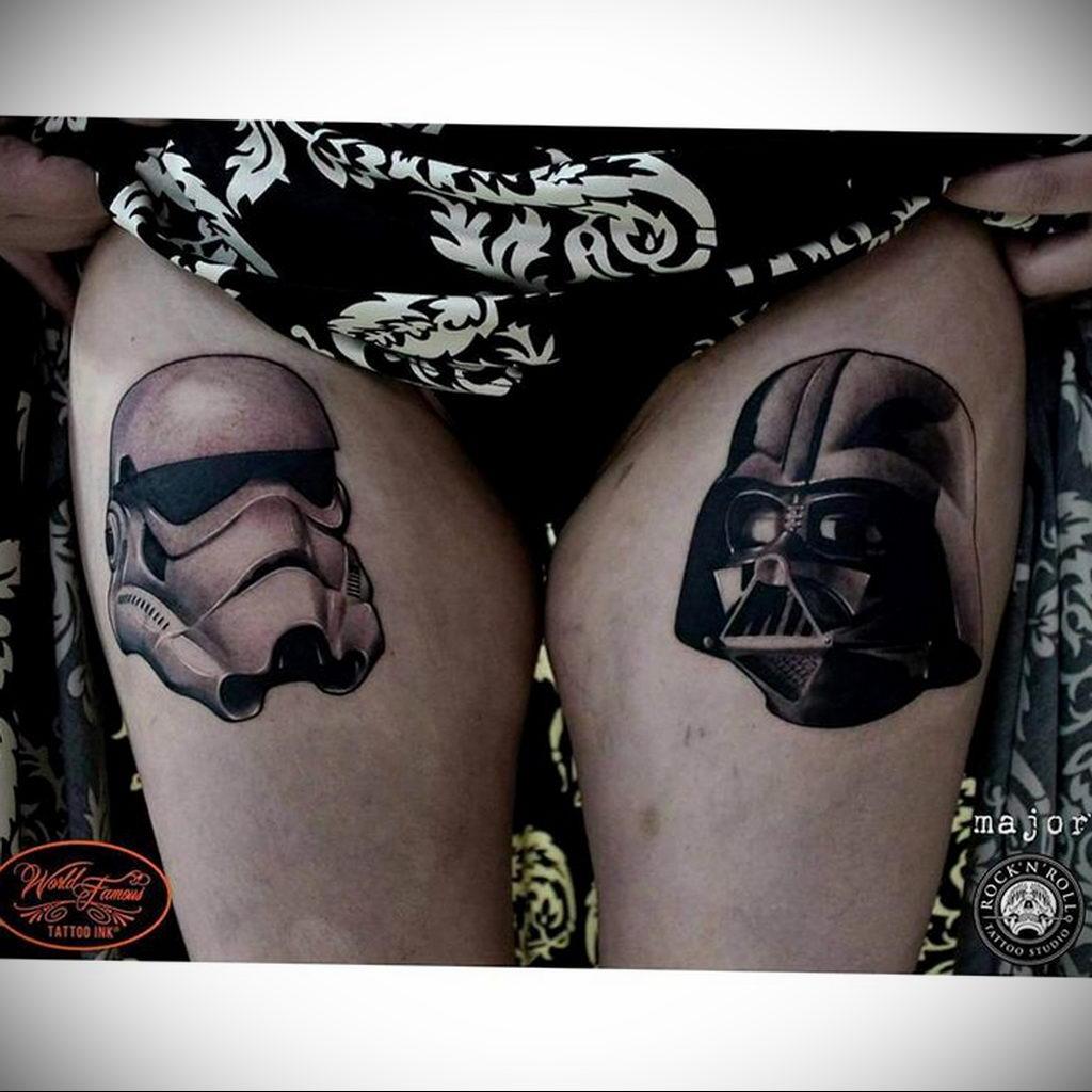 фото вариант тату Дарт Вейдер 04.02.2020 №1045 -darth vader tattoo- tatufoto.com