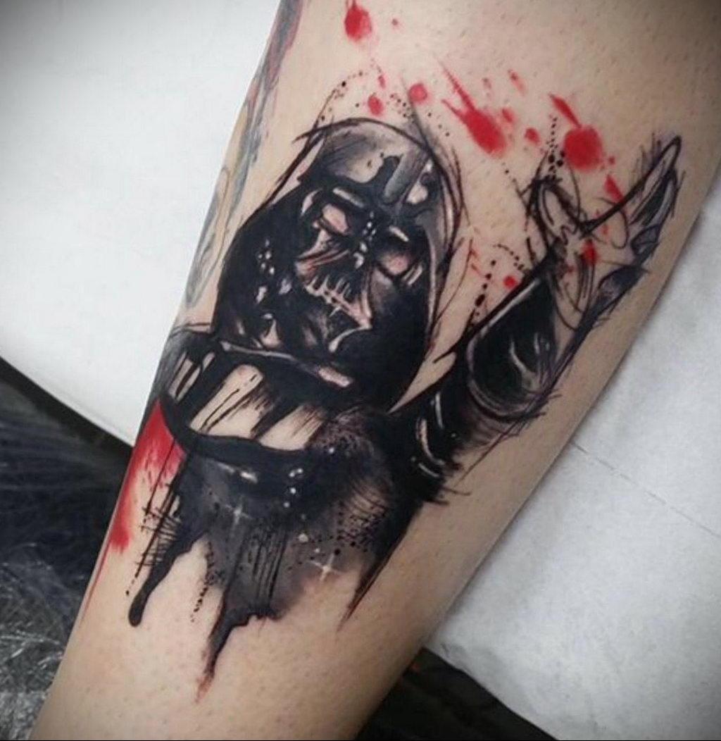 фото пример тату Дарт Вейдер 04.02.2020 №1006 -darth vader tattoo- tatufoto.com