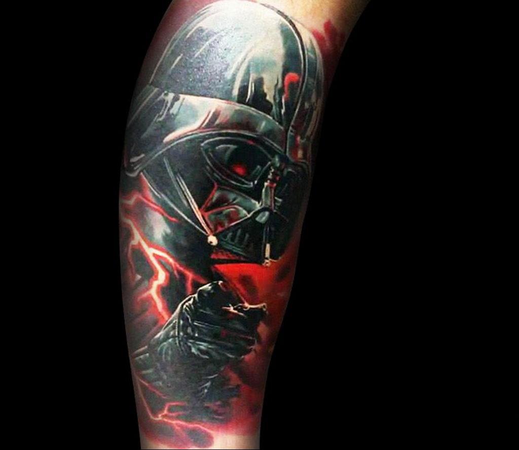 фото пример тату Дарт Вейдер 04.02.2020 №1010 -darth vader tattoo- tatufoto.com