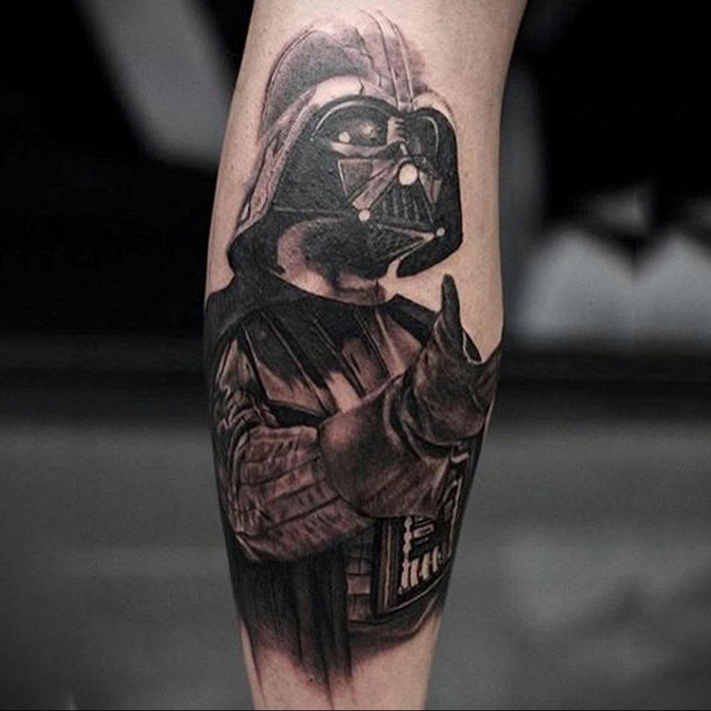 фото пример тату Дарт Вейдер 04.02.2020 №1012 -darth vader tattoo- tatufoto.com