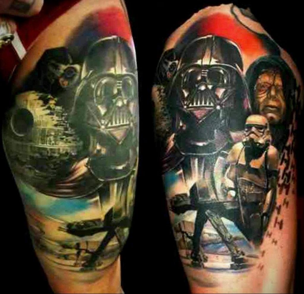фото пример тату Дарт Вейдер 04.02.2020 №1013 -darth vader tattoo- tatufoto.com