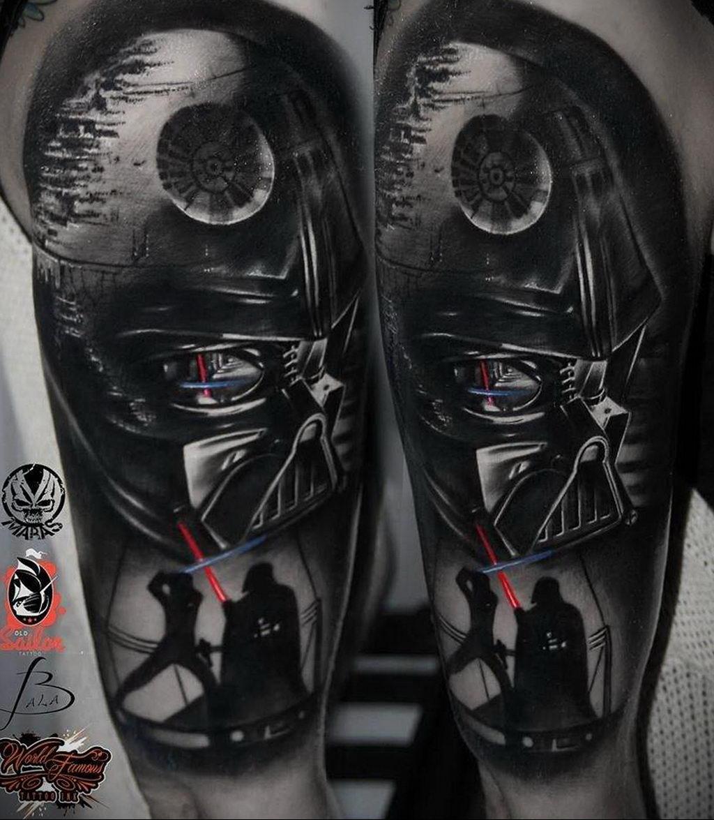 фото пример тату Дарт Вейдер 04.02.2020 №1014 -darth vader tattoo- tatufoto.com