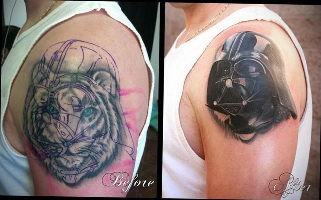 фото пример тату Дарт Вейдер 04.02.2020 №1018 -darth vader tattoo- tatufoto.com