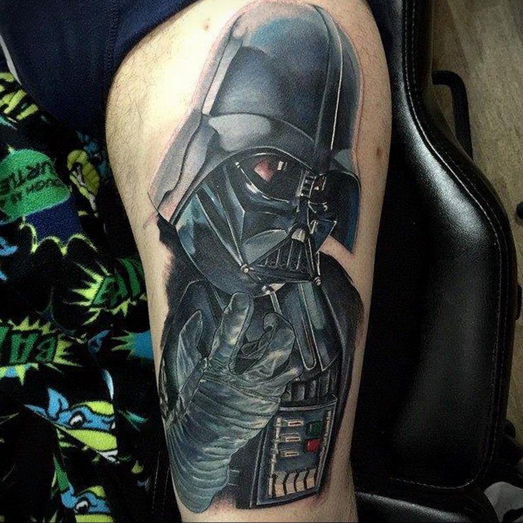 фото пример тату Дарт Вейдер 04.02.2020 №1039 -darth vader tattoo- tatufoto.com