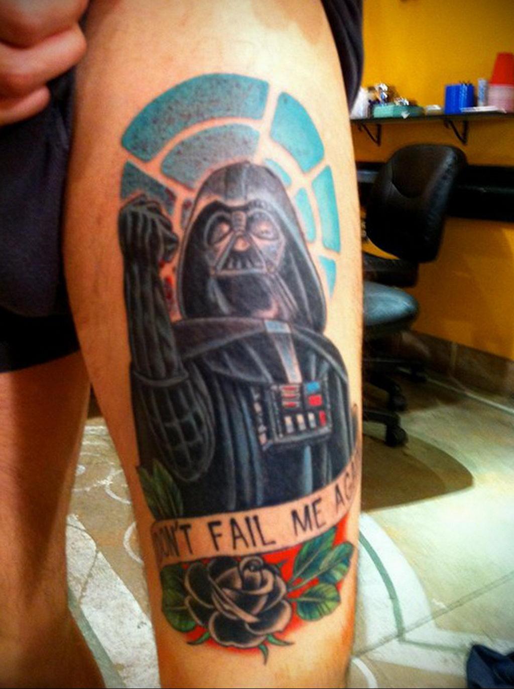 фото пример тату Дарт Вейдер 04.02.2020 №1071 -darth vader tattoo- tatufoto.com