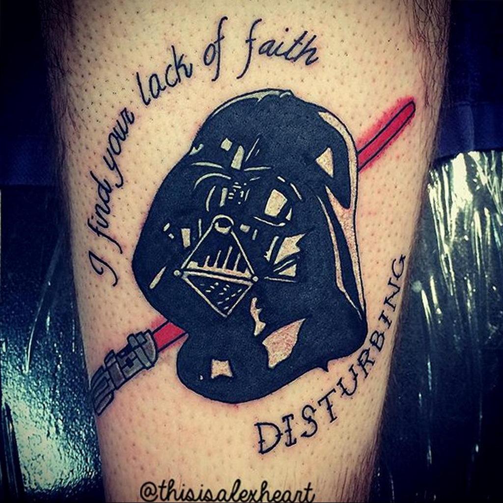 фото пример тату Дарт Вейдер 04.02.2020 №1074 -darth vader tattoo- tatufoto.com