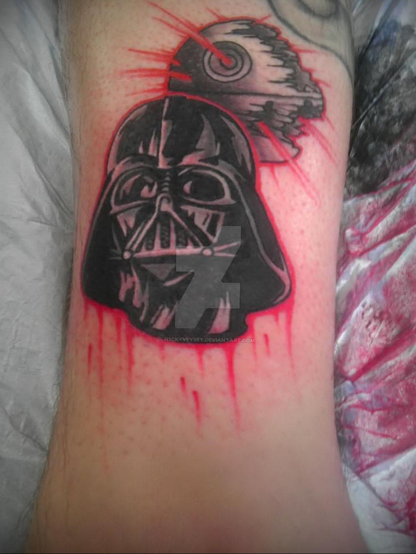 фото пример тату Дарт Вейдер 04.02.2020 №1077 -darth vader tattoo- tatufoto.com