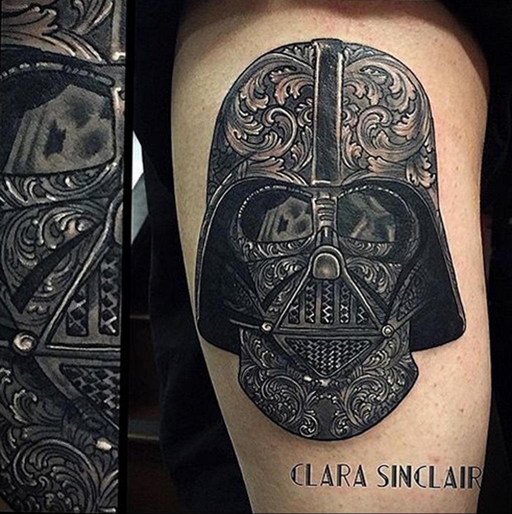фото пример тату Дарт Вейдер 04.02.2020 №1083 -darth vader tattoo- tatufoto.com