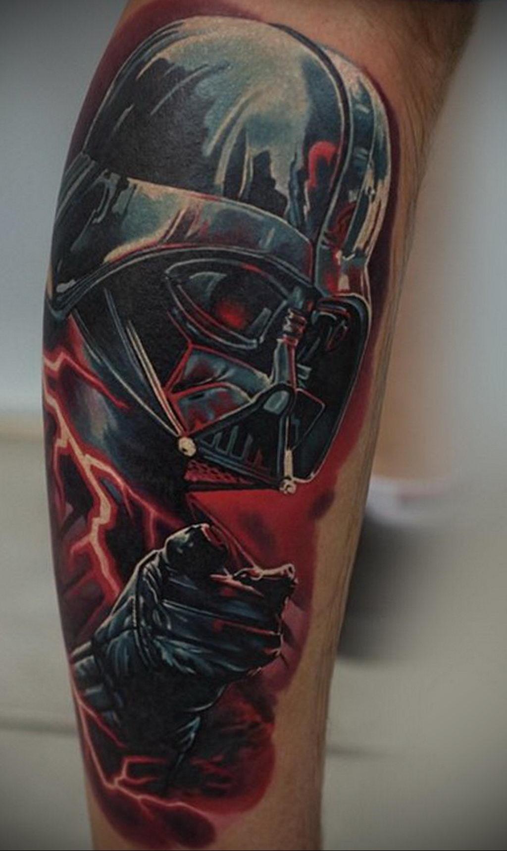 фото пример тату Дарт Вейдер 04.02.2020 №1090 -darth vader tattoo- tatufoto.com