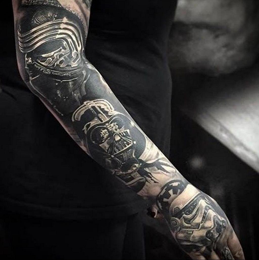 фото пример тату Дарт Вейдер 04.02.2020 №1102 -darth vader tattoo- tatufoto.com