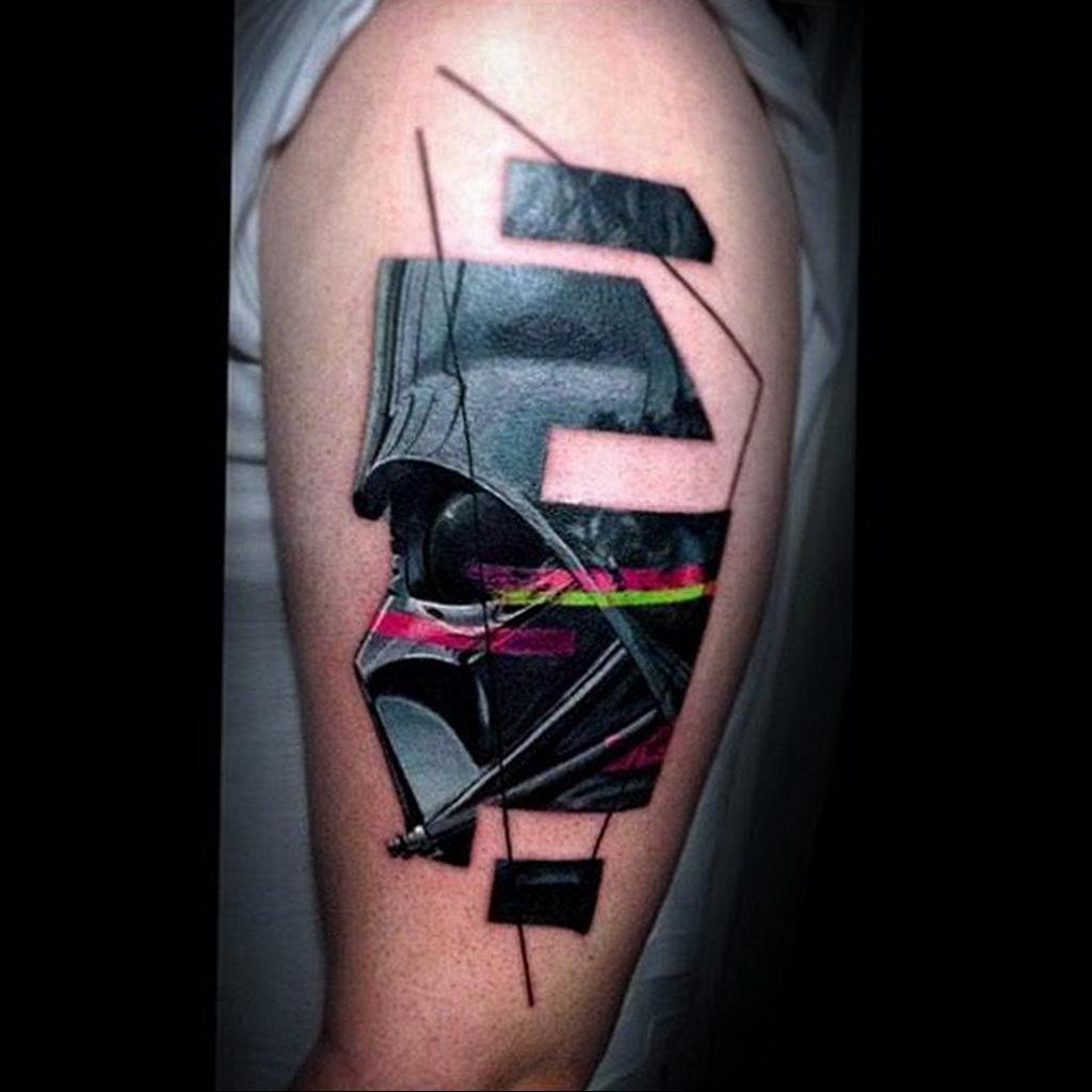 фото пример тату Дарт Вейдер 04.02.2020 №1120 -darth vader tattoo- tatufoto.com