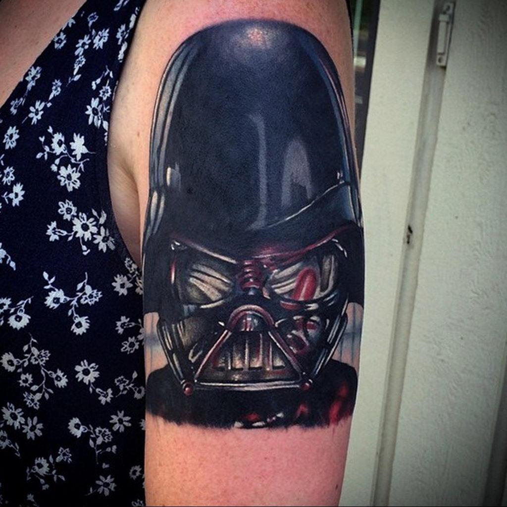 фото пример тату Дарт Вейдер 04.02.2020 №1130 -darth vader tattoo- tatufoto.com