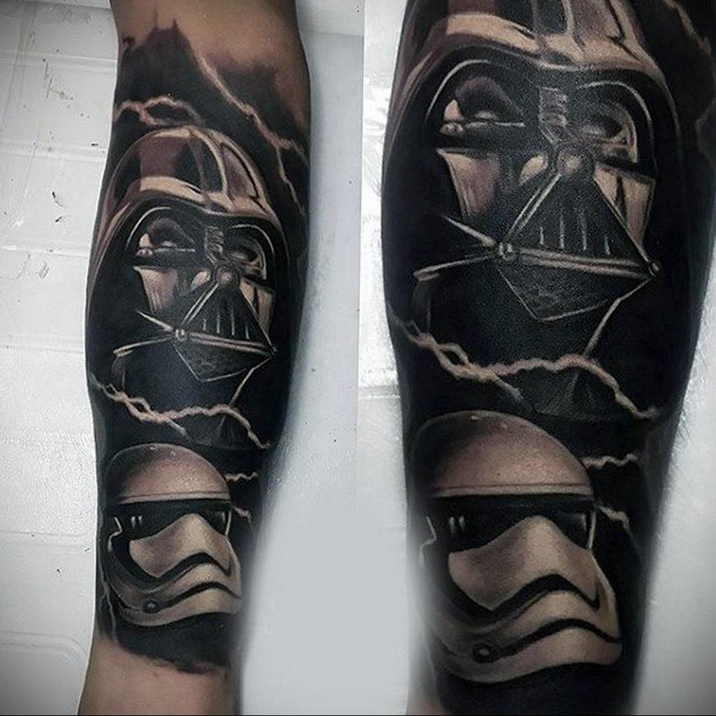 фото пример тату Дарт Вейдер 04.02.2020 №1139 -darth vader tattoo- tatufoto.com