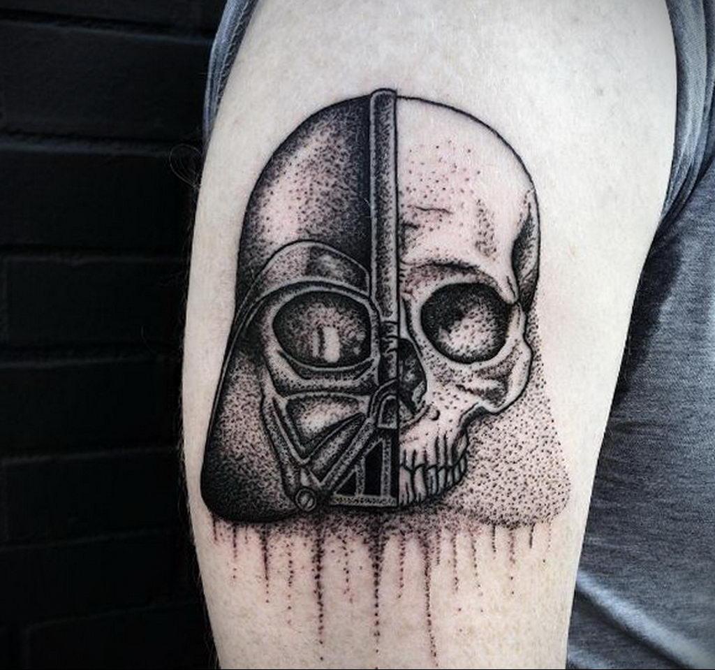 фото пример тату Дарт Вейдер 04.02.2020 №1143 -darth vader tattoo- tatufoto.com