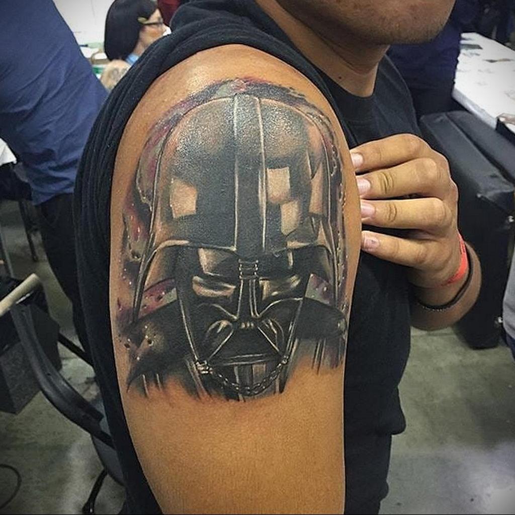 фото пример тату Дарт Вейдер 04.02.2020 №1147 -darth vader tattoo- tatufoto.com