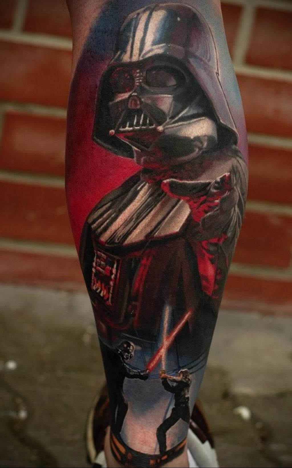 фото пример тату Дарт Вейдер 04.02.2020 №1156 -darth vader tattoo- tatufoto.com