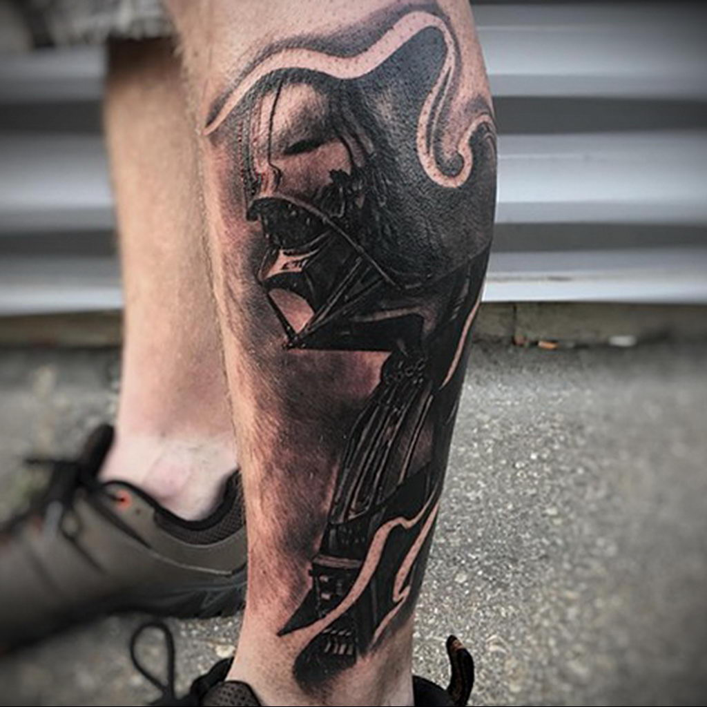 фото тату Дарт Вейдер 04.02.2020 №1018 -darth vader tattoo- tatufoto.com