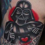 фото тату Дарт Вейдер 04.02.2020 №1398 -darth vader tattoo- tatufoto.com