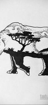 фото эскиза тату носорог 02.02.2020 №022 -rhino tattoo sketches- tatufoto.com