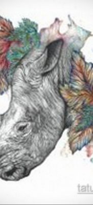 фото эскиза тату носорог 02.02.2020 №030 -rhino tattoo sketches- tatufoto.com