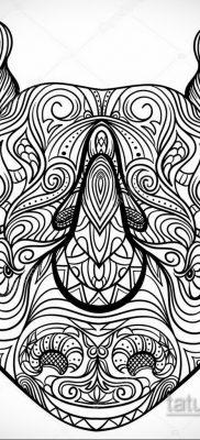 фото эскиза тату носорог 02.02.2020 №032 -rhino tattoo sketches- tatufoto.com