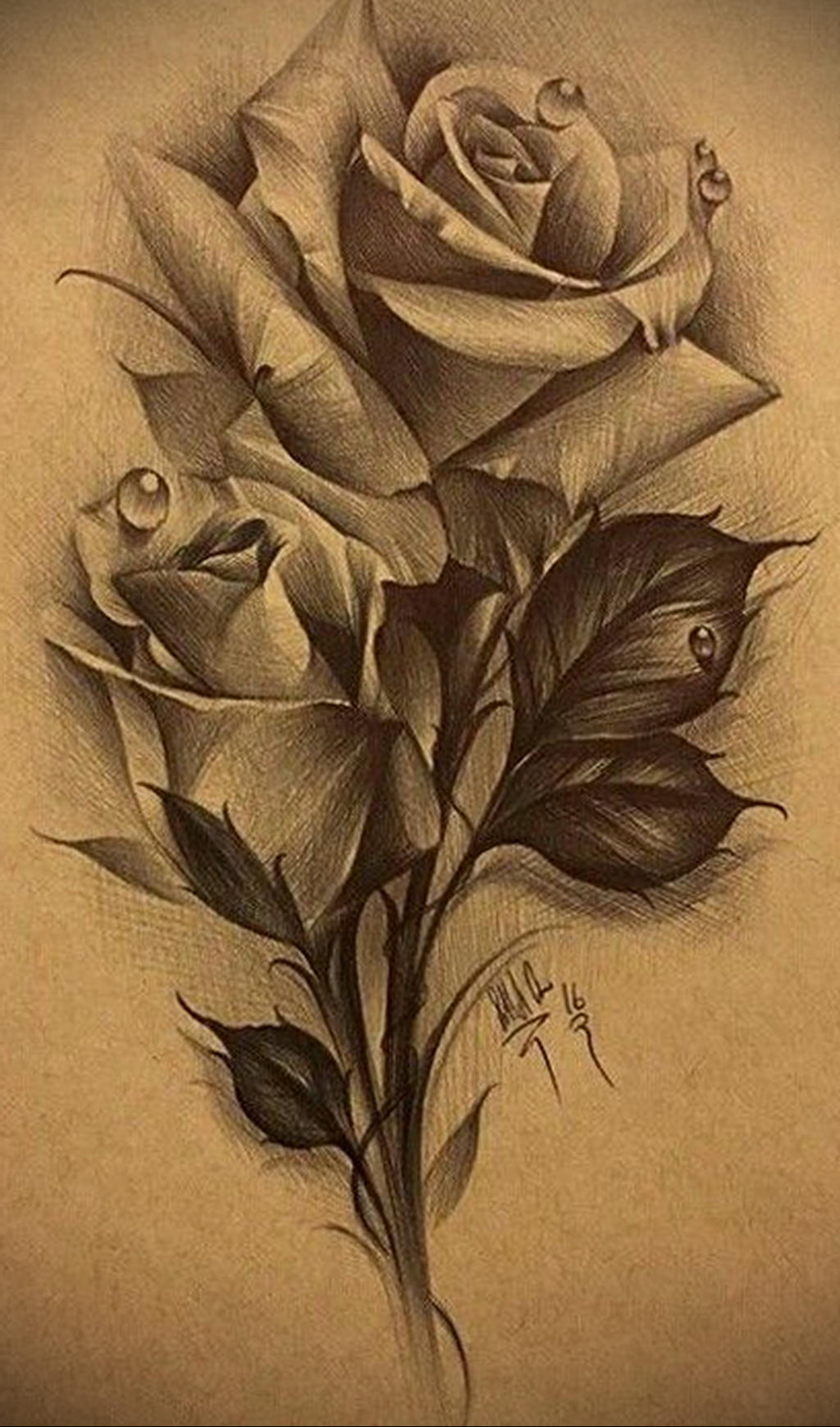 эскиз тату роза для девушки 04.02.2020 №003 -rose tattoo for girl- tatufoto.com