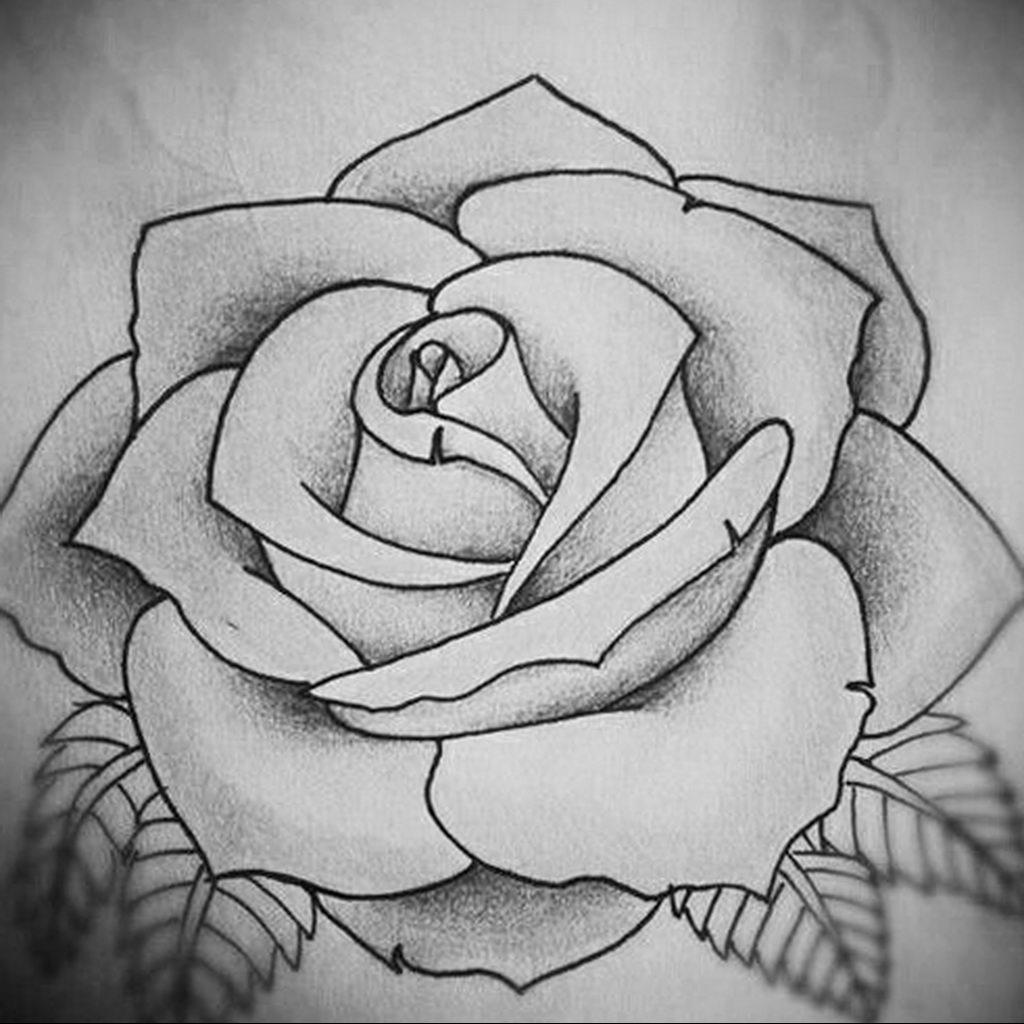 эскиз тату роза для девушки 04.02.2020 №011 -rose tattoo for girl- tatufoto.com