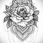 эскиз тату роза для девушки 04.02.2020 №012 -rose tattoo for girl- tatufoto.com