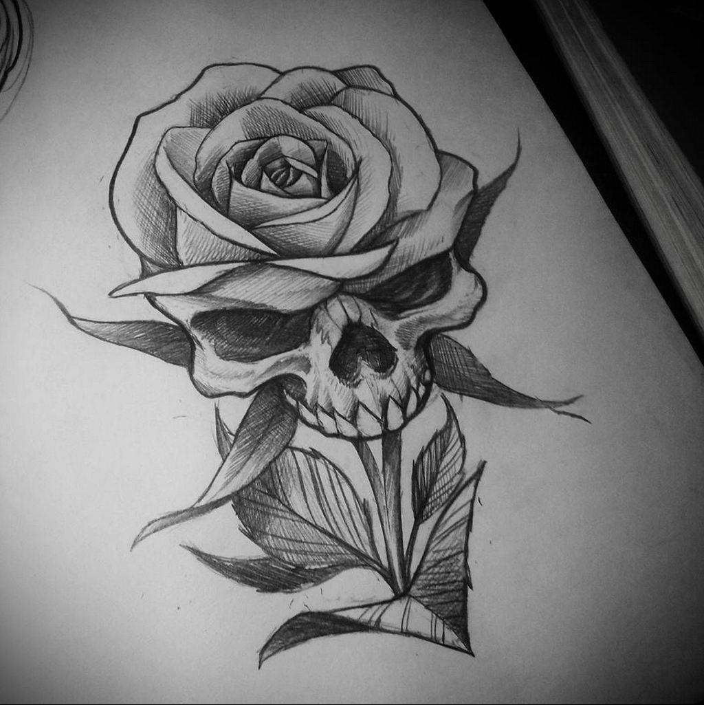 эскиз тату роза для девушки 04.02.2020 №014 -rose tattoo for girl- tatufoto.com