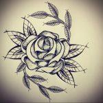 эскиз тату роза для девушки 04.02.2020 №035 -rose tattoo for girl- tatufoto.com