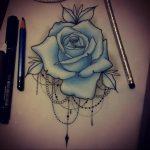 эскиз тату роза для девушки 04.02.2020 №045 -rose tattoo for girl- tatufoto.com