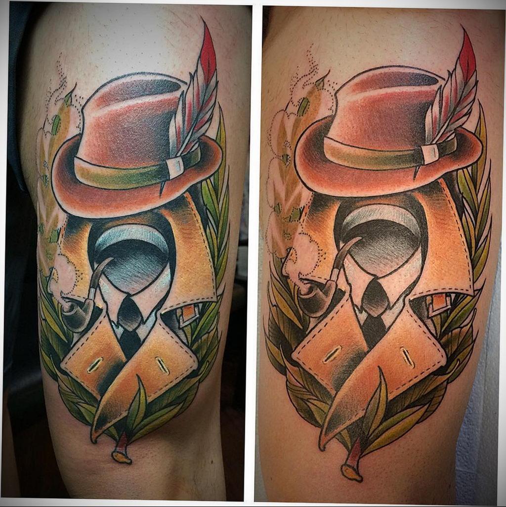 Татуировка с Человеком-Невидимкой – фото рисунка татуировки для сайта tatufoto.com 12