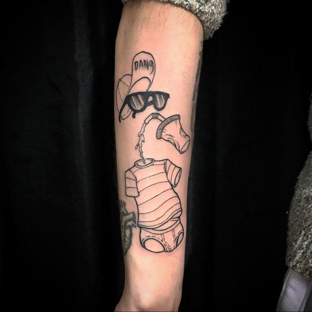Татуировка с Человеком-Невидимкой – фото рисунка татуировки для сайта tatufoto.com 2
