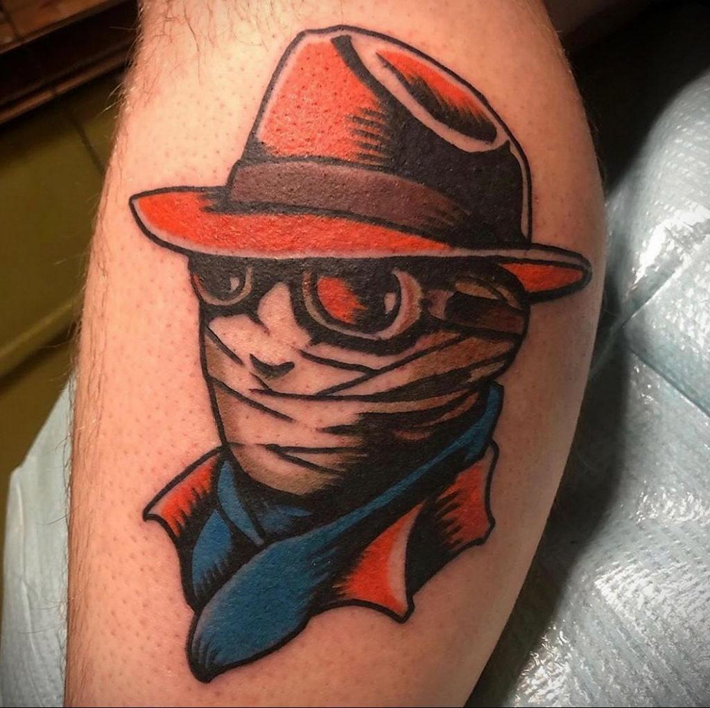 Татуировка с Человеком-Невидимкой – фото рисунка татуировки для сайта tatufoto.com 3