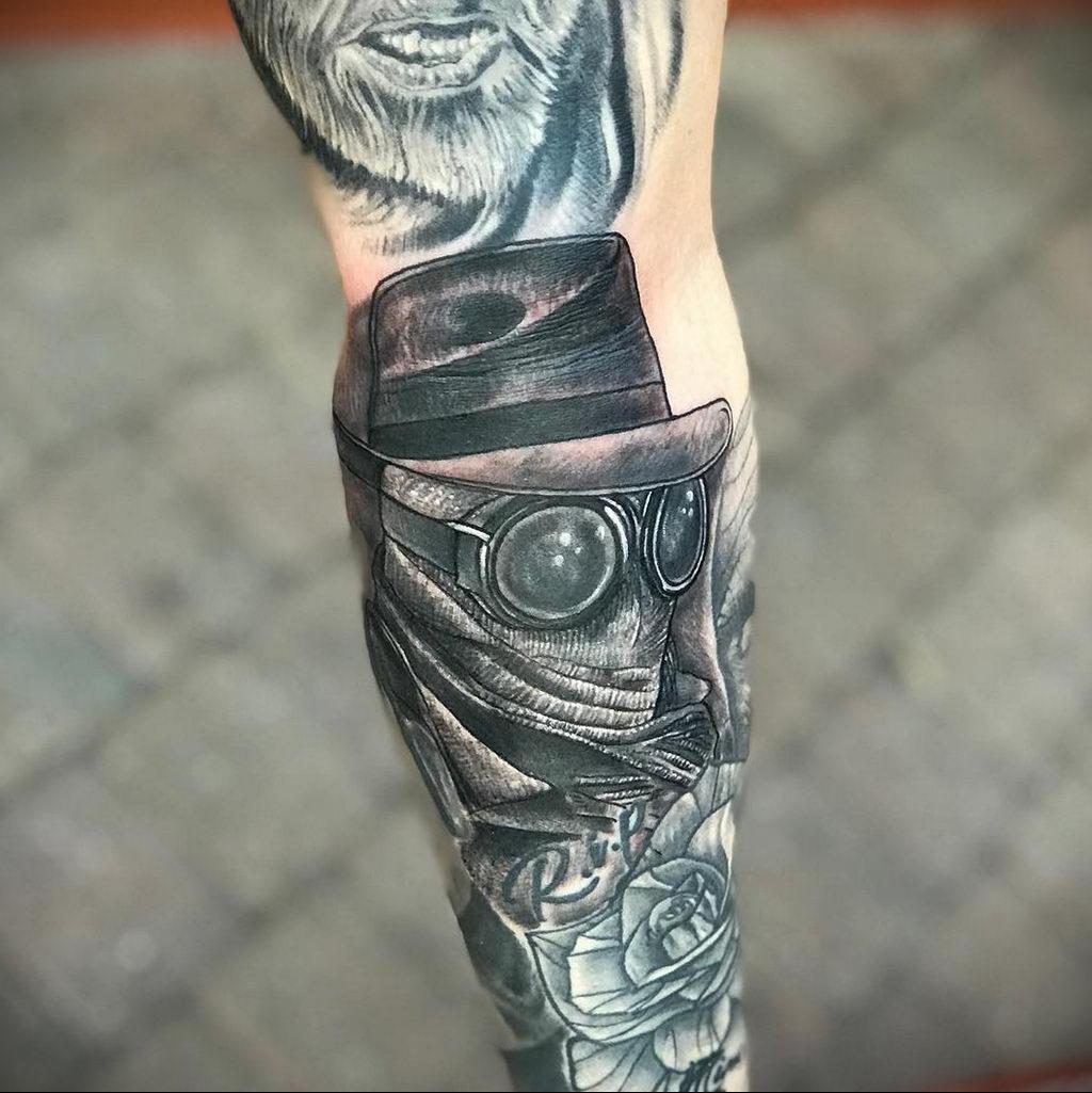 Татуировка с Человеком-Невидимкой – фото рисунка татуировки для сайта tatufoto.com 5