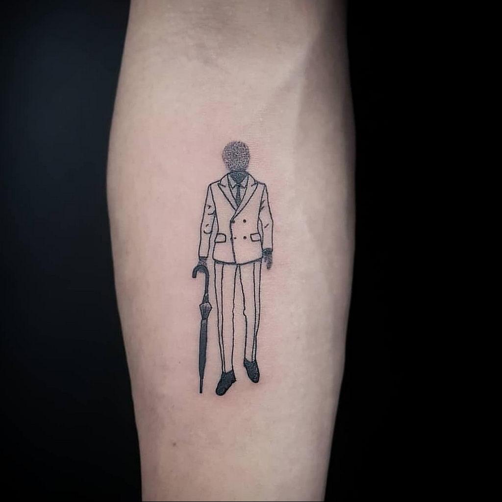 Татуировка с Человеком-Невидимкой – фото рисунка татуировки для сайта tatufoto.com 6