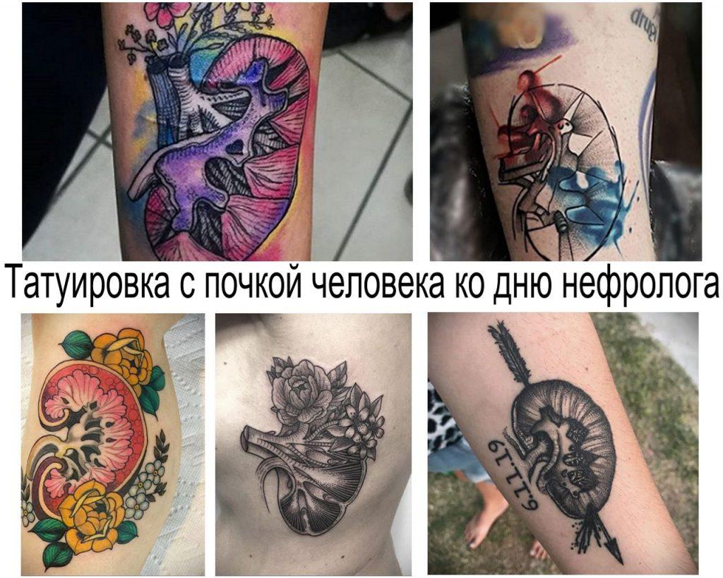 Татуировка с почкой человека ко дню нефролога - информация про особенности и фото примеры рисунков татуировки