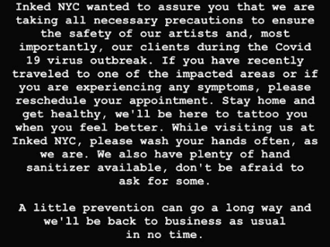 Татуировки во время пандемии коронавируса - картинка 1